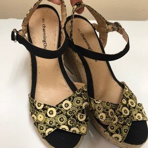Charming Charlie wedges, size 9
